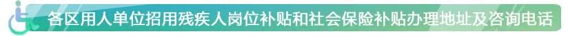 北京各区残联联系电话和地址