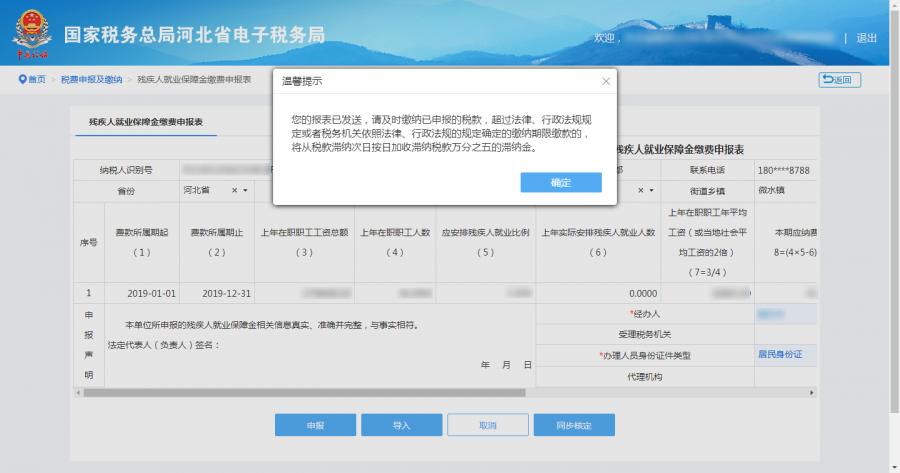河北省残保金申报审核流程及残保金电子税务局如何申报缴纳详细说明插图(10)
