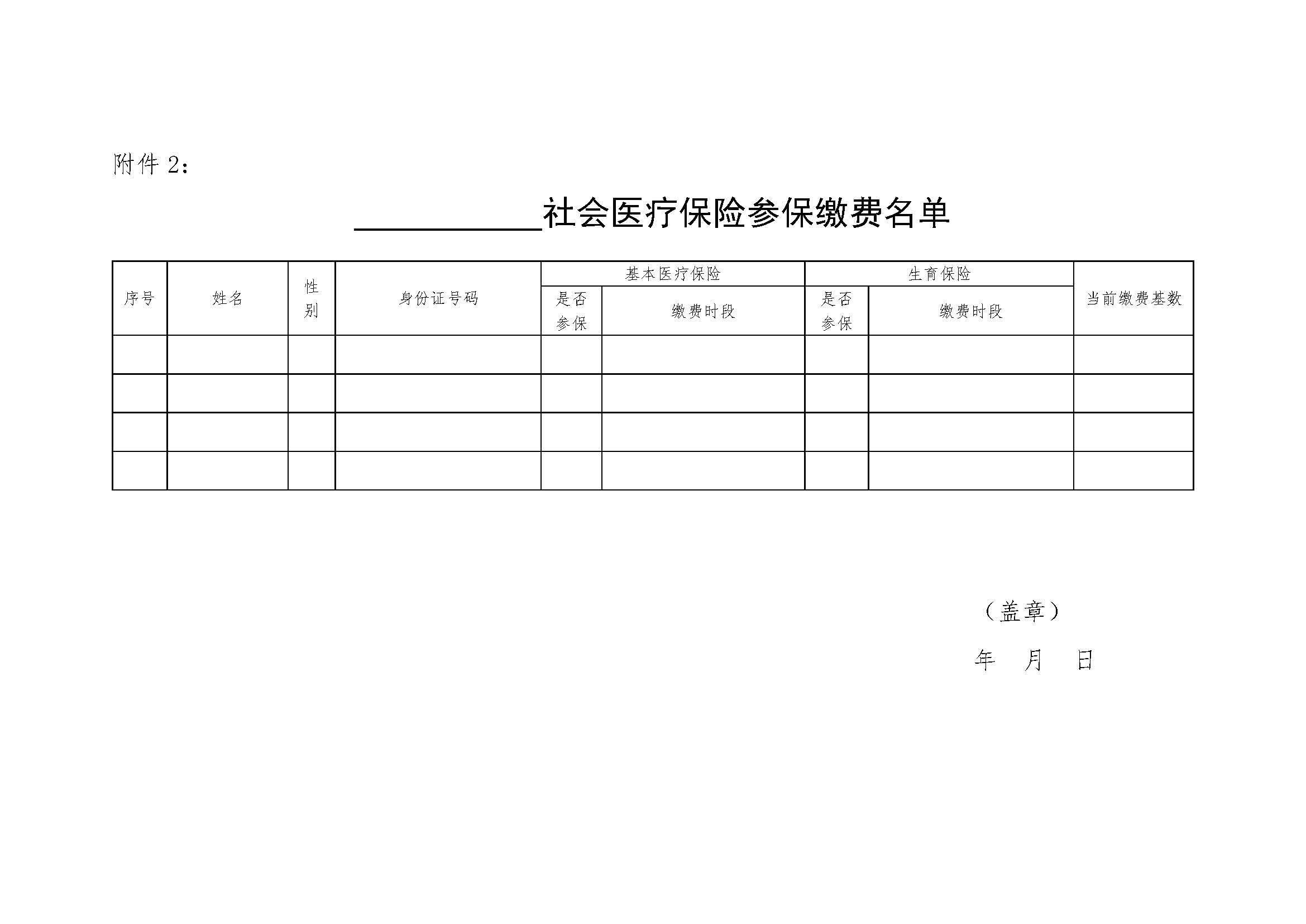 潍坊市残保金申报审核资料医疗保险参保缴费名单