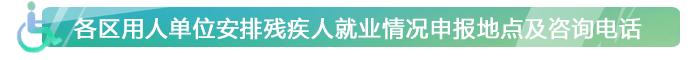北京市各区残联联系电话和地址