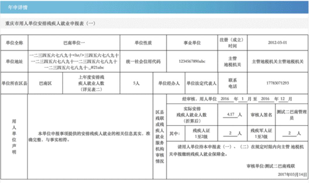 企业负责人HR值得收藏!超详细的重庆残疾人就业审核_残保金申报审核操作手册插图(31)